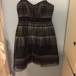 BCBG strapless dress, black