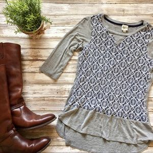 Anthropologie Lace Long Sleeve Shirt
