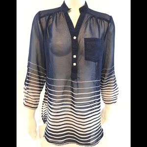 Truth NYC Women's striped blouse size M