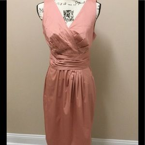 Talbots peachy colored cotton dress