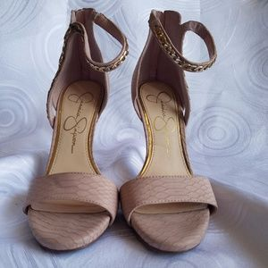 Blush Pink/Nude Jessica Simpson Heell Sandals