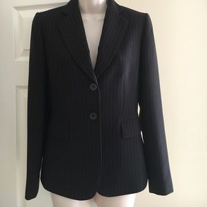 Black pinstriped Tahari blazer