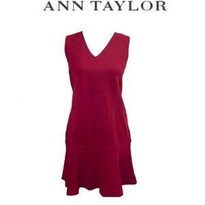 ❤️Ann Taylor❤️Red Dress Small Petite V Neck NWT SP