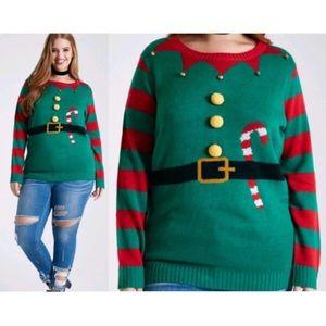 Elf Ugly Bell Neckline Christmas Sweater