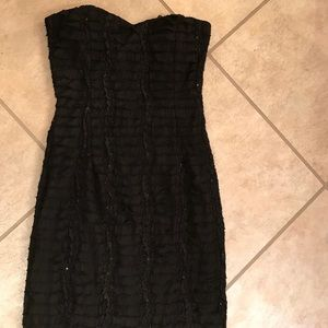 Black Dress with small ruffles and sequin detail