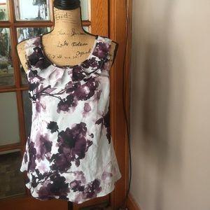 Women's blouse brown /burgundy print