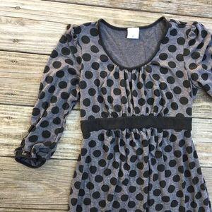 Motherhood Maternity Gray Polka Dot Dress