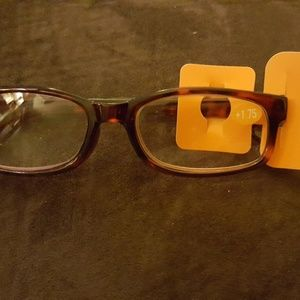 Brown new reading glasses 1.75 magnification