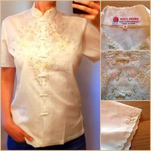 [Rose Brand] Vintage Embroidered Blouse