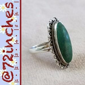 Vintage Taxco Turquoise/Sterling Silver Filigree R