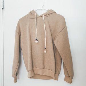 Indie beige hoodie