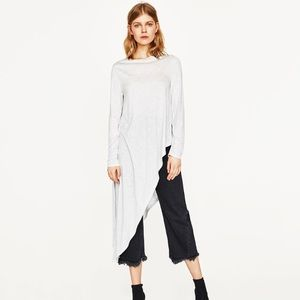Zara Asymmetric Long Sleeve Shirt