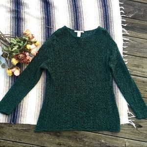 Teal The Limited Knit see-through sweater