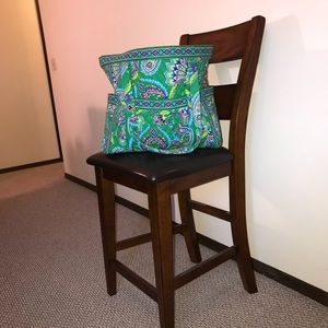 EXTRA LARGE VERA BRADLEY TOTE IN EMERALD PAISLEY