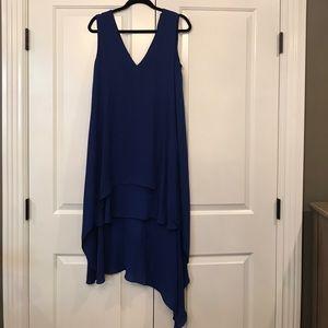 BCBGMaxAzria baby blue high/low gown