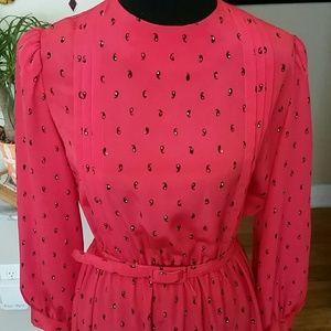 VTG Lady Carol Red Midi Dress!♡