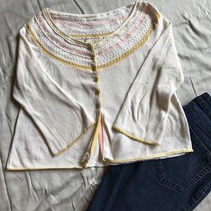 Anthropologie Guinevere cream sweater.