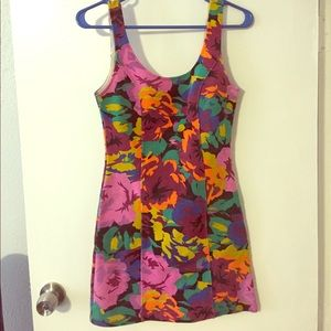 MINKPINK floral fitted body-con dress