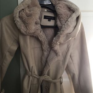 CCO! Faux fur lined coat from Jones New York