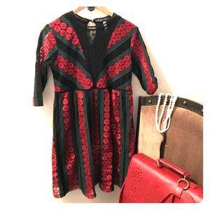 Xhiliaration Bohemian Chic Dress, Medium