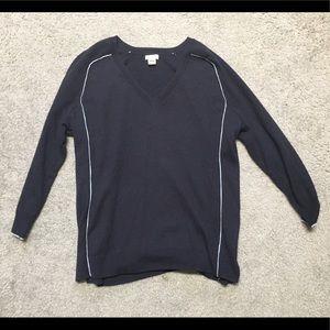 Navy J Crew v-neck sweater (barely worn)