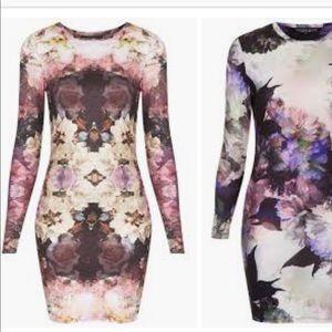 Topshop Floral Bodycon Dress