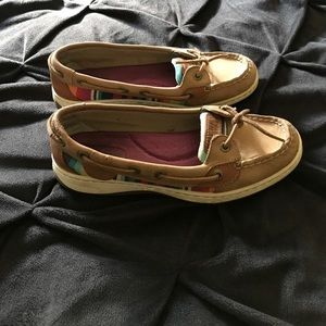 Sperrys in good condition, scuff on back