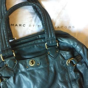 Marc by Marc Jacobs blue leather handbag