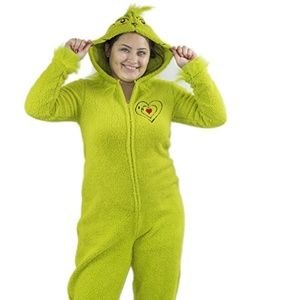 Dinosaur Hooded One Piece Fleece Pajamas Womens Adult Purple Union Suit Costume