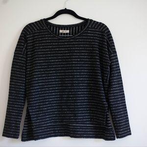 longsleeve black madewell striped top
