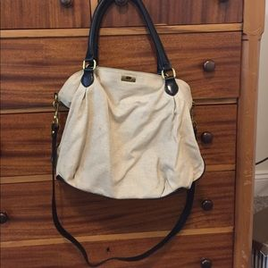 J Crew canvas and leather bag