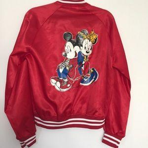 Jackets & Blazers - Vintage Mickey &  MINNIE Disney satin bomber
