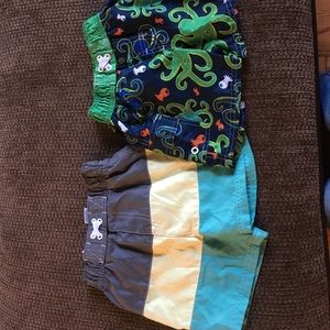 Two pack boys bathing suit shorts