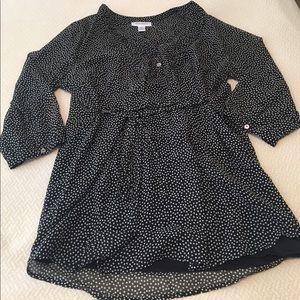 Motherhood polka dot tunic top