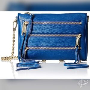 Rebecca Minkoff royal blue zipper purse