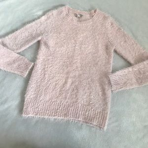 Forever 21 Light Pink Fuzzy Mohair Soft Sweater