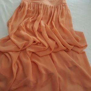 Blush Orange Skirt