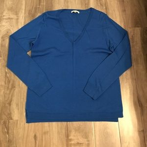 Blue madewell vneck sweater