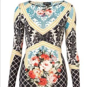 Topshop Brocade Print Dress