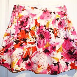 forever21 pink floral mini skirt S