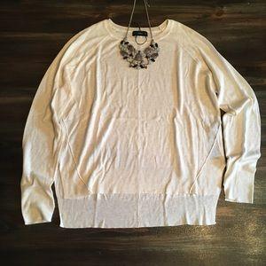NWOT Zara Knit Creme Sweater Size Small.