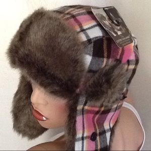 💖Cozy Flannel and Softer Than Mink Faux Fur Hat💖