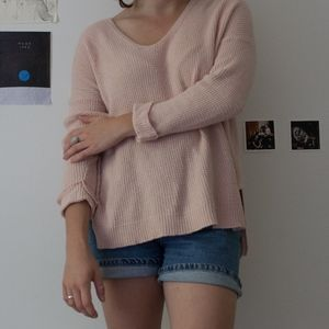 Madewell light pink pullover sweater