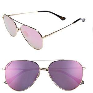Jessie James Decker DIFF Eyewear Aviators (Pink)