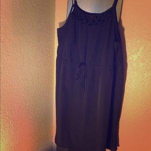 Black Cinch Waist Dress