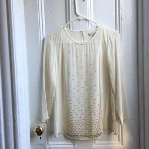 Silk headed blouse Madewell