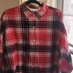 Old Navy Red Plaid Top