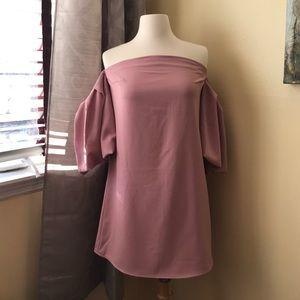 Forever 21 dusty pink off shoulder short dress