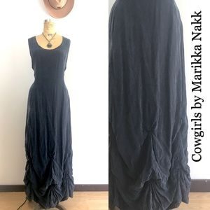 Cowgirl Chic Laced back Maxi Dress by Marikka Nakk