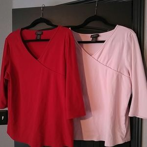 Set of 2 Lane Bryant VNeck tops